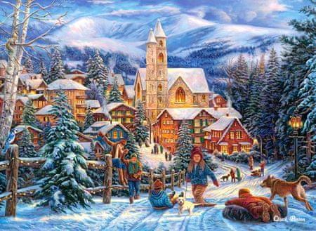 Castorland Puzzle 300 dílků Sledding to Town
