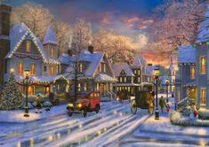 Blue Bird Small Town Christmas 1500 dielikov