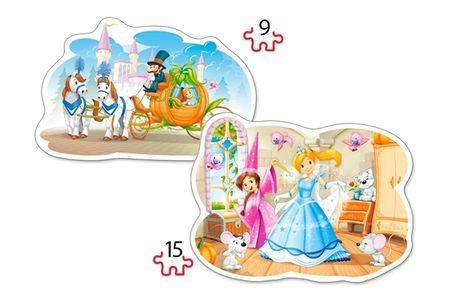 Castorland 2 Jigsaw Puzzles - Cinderella