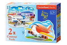 Castorland 2 Jigsaw Puzzles - Airport Adventures