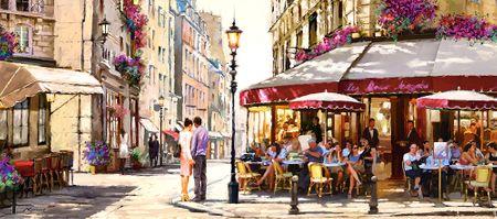 Castorland Puzzle 600 db Richard Macneil: Lovers in Paris