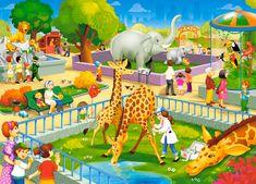 Castorland Zoo Visit 60 dielikov