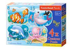 Castorland 4 Jigsaw Puzzles - Underwater World