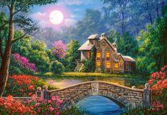 Castorland Cottage in the Moon Garden 1000 dielikov