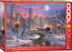 EuroGraphics Puzzle 1000 db Dominic Davison: Christmas Eve in New York City