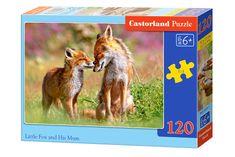 Castorland Malá líška s mamou 120 dielikov