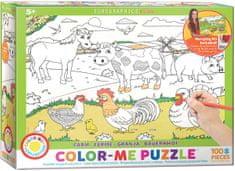 EuroGraphics Puzzle 100 db Color Me - Farm