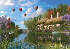KS Games Puzzle 1000 pieces Dominic Davison : Le Vieux Cottage au Bord de la Ri
