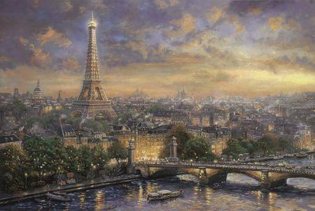 Schmidt Puzzle 1000 db Thomas Kinkade: City of Love