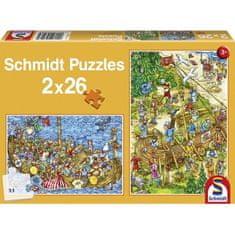 Schmidt Jigsaw Puzzle - 2 x 26 Pieces - Vikings