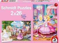 Schmidt 2 Puzzles - Princesses Féériques
