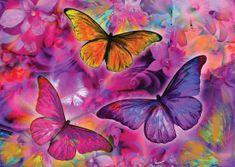 KS Games Puzzle 2000 db Papillons et Orchidées Arc-en-ciel