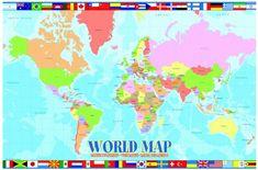 EuroGraphics Puzzle 100 pieces Carte du monde