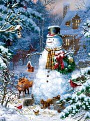 SunsOut Puzzle 1000 dílků Liz Goodrick Dillon - Winter Cabin Snowman