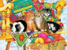 SunsOut Puzzle 1000 dílků Amy Rosenberg - Knit Wits