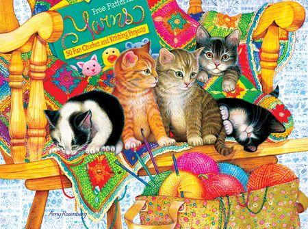 SunsOut Puzzle 1000 db Amy Rosenberg - Knit Wits