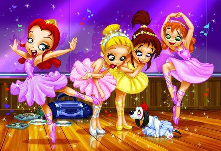 EuroGraphics Puzzle 100 db Go Girls Go! - Ballet