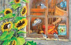 SunsOut Puzzle 1000 pieces Carol Decker - Sunflower Shed