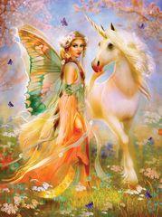 SunsOut Puzzle 1000 dílků Bente Schlick - Fairy Princess and Unicorn