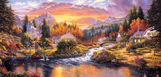 SunsOut Puzzle 1000 pieces Derk Hansen - Morning Sunlight