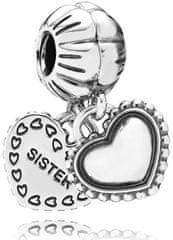Pandora Prívesok Najlepší sestry 791383 striebro 925/1000