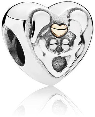 Pandora Srebrna kroglica Srce za družino 791771 srebro 925/1000