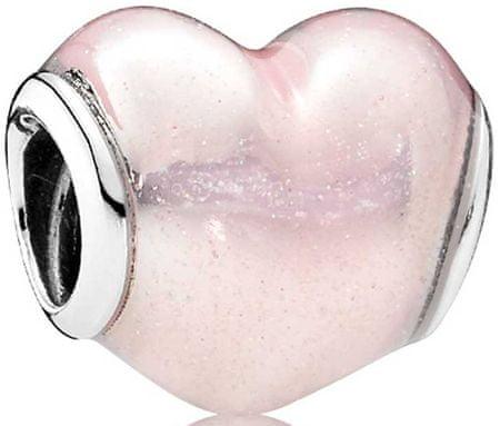 Pandora Rózsaszín gyöngy Szív 791886EN113 ezüst 925/1000