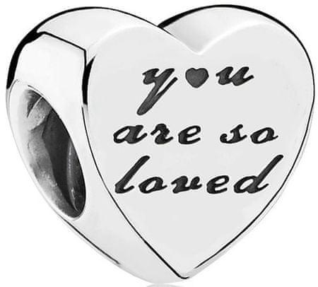 Pandora Szerelmes ezüst gyöngy 791730 ezüst 925/1000