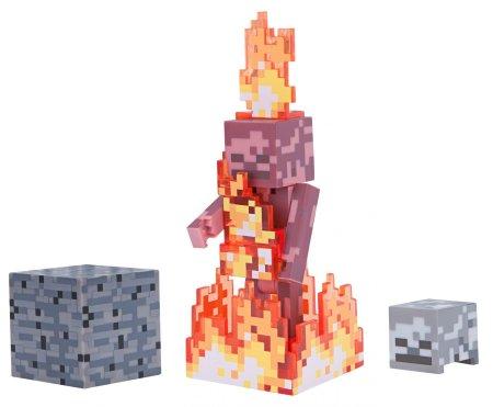 TM Toys Minecraft Figura Skeleton a tűzben