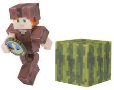 TM Toys Minecraft Figúrka Alex v koženom zbroji