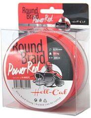 Hell-Cat Splietaná Šnúra Round Braid Power Red 200 m