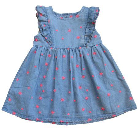 Carodel dívčí šaty 68 růžová/modrá