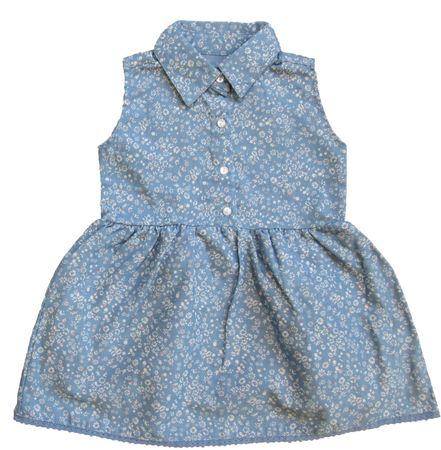 Carodel dívčí šaty 68 modrá