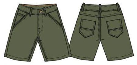 Carodel kratke hlače za dječake, 122, zelene