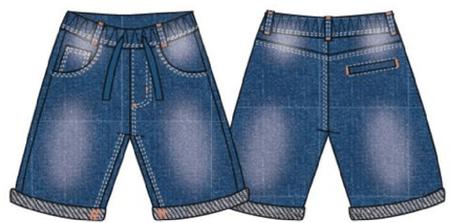 Carodel fantovske kratke hlače, 122, modre/oranžne