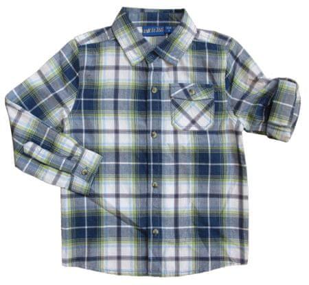 Carodel chlapecká košile 122 modrá/zelená