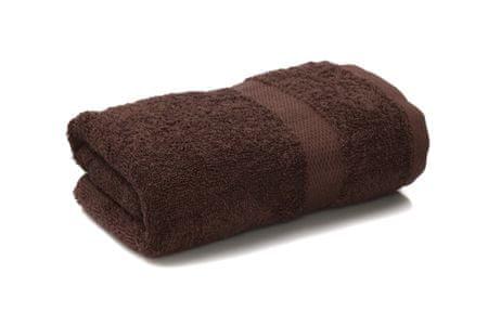 Saffran Ręcznik frotte 50x90 cm, 400 gr / m2 - ciemnobrązowy