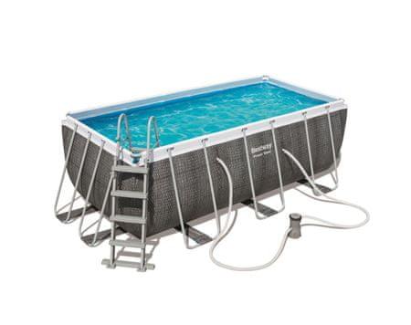 Bestway 56722 Power Steel Rectangular Pool Set