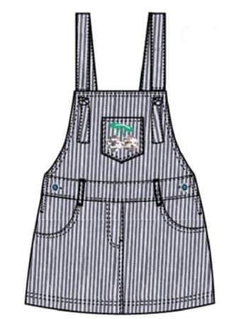 Carodel dekliška obleka, 104, bela/modra