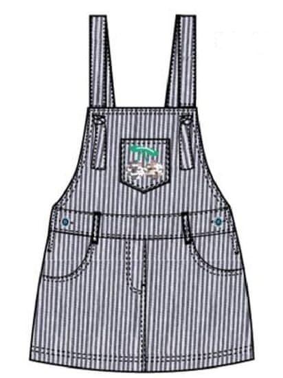 Carodel dívčí šaty 104 bílá/modrá