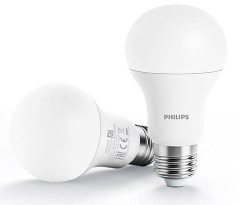 Chytrá LED žárovka Xiaomi by Philips Wi-Fi Bulb White, nastavitelný jas, ovládání telefonem