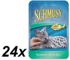 Schmusy hrana za mačke Nature Fish, tuna i povrće, 24 x 100 g