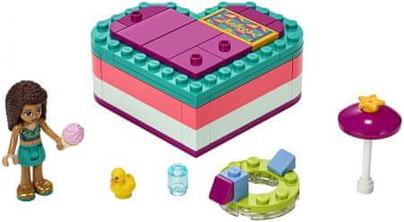 LEGO zestaw Friends 41384 Andrea i letnie pudełko w kształcie serca
