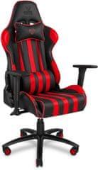 Yenkee fotel YGC 100RD Sabotage, czarny/czerwony (YGC 100RD)