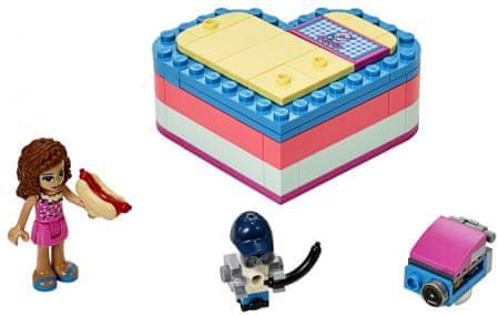LEGO Friends 41387 Olívia és nyári szívecske alakú doboz