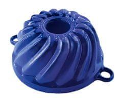 Smalt Litinová forma na bábovku malá - smaltovaná modrá