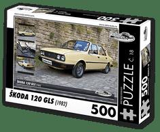 RETRO-AUTA© Puzzle č. 18 - ŠKODA 120 GLS (1982) 500 dílků