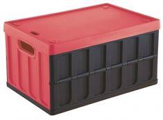 Tontarelli skrzynka składana z pokrywą 46 l, czarna/czerwona