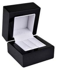 Jan KOS Dřevěná krabička na náušnice nebo snubní prsteny BB-2/NA/A25