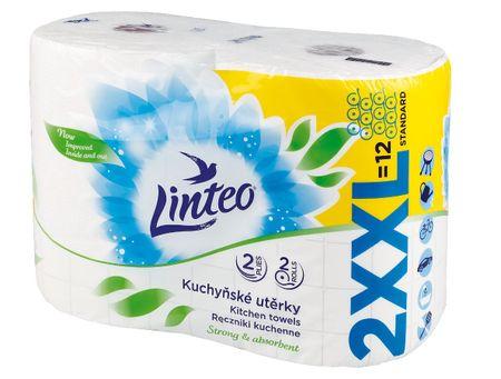 LINTEO Konyhai törlőkendő LINTEO XXL - 2 rétegű - fehér - 2 tekercs